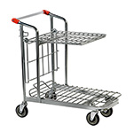 Nestable Stock Trolley with Top Shelf