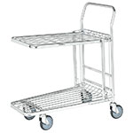 Nesting Stock Trolley with Foldaway and Retractable Shelf