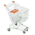 Bright Zinc Shopping Trolleys