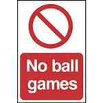 Picture of No Ball Games Sign