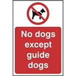 Picture of No Dogs Except Guide Dogs Sign