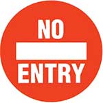 Picture of No Entry Graphic Floor Marker