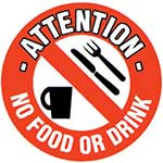 No Food or Drink Graphic Floor Marker