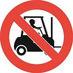 No Forklift Trucks Graphic Floor Marker