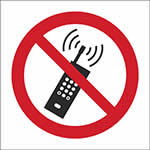 Picture of No Mobile Phone, Symbol Only Sign
