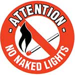 Picture of No Naked Lights Graphic Floor Marker