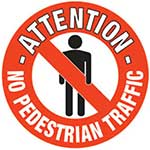 Picture of No Pedestrian Traffic Graphic Floor Marker