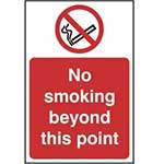 Picture of No Smoking Beyond This Point Sign