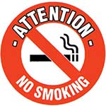 Picture of No Smoking Graphic Floor Marker