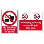 Picture of No Smoking - No Drinking - No Eating Sign