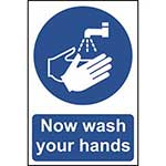 Picture of Now Wash Your Hands Please Sign