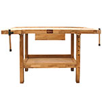 Picture of Oak Woodworking Bench with Biscuit Jointer