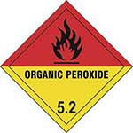 Organic Peroxide 5.2 Diamond Labels