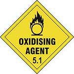 Picture of Oxidising Agent 5.1 Diamond Label