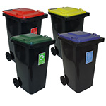 Picture of Pack of Four Recycling  Wheelie Bins 240L