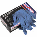 Picture of Premium Powder Free Disposable Nitrile Gloves in Packs of 100