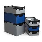 Polypropylene stacker boxes