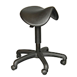 Picture of Polyurethane Height Adjustable Saddle Stool