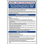 Picture of Provision And Use Of Work Equipment Regulations Guide