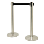 Picture of Retractable Barrier with 2 Stainless Steel Posts