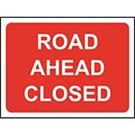 Picture of Road Ahead Closed Sign