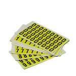 S/A Vinyl Labels, Complete Number Sets