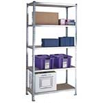 Standard Duty Galvanised Shelving with 5 Chipboard Shelves