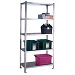 Picture of S/D Galvanised Just Shelving with 5 Galvanised Shelves