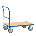 Picture of Single Beech Veneer Open End Flatbed Trolleys