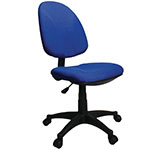 Picture of Single Lever Operator Chair, Blue and Black, Optional Arms