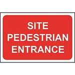 Site Pedestrian Entrance Sign