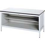 Picture of Sitting Height Mail Sorting Bench with base & centre shelf