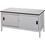 Picture of Sitting Height Mail Sorting Bench with sliding doors