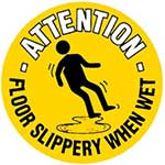Picture of Slippery When Wet Graphic Floor Marker
