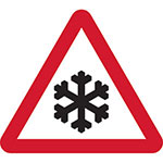 Picture of Snow and Ice Road Sign