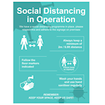 Picture of Social Distancing in Operation Signs
