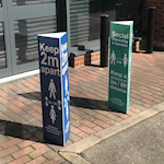 Picture of Social Distancing Post/Bollard Sleeve Signs