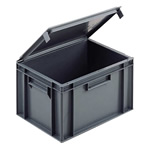 Picture of Solid Euro Containers with Integral Lids