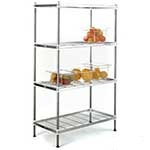 QM Stainless Steel Wire Shelving Bays