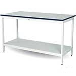 Picture of Standing Height Post Sorting Bench with bottom shelf