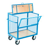 Picture of Steel Mesh Lockable Security Trolley