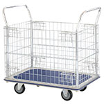 Picture of Steel platform trolley with chrome plated mesh panels