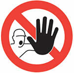 Stop/Man with Hand Graphic Floor Marker