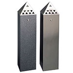 Tower Cigarette Ash Bins with Pyramid Top