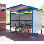 Traditional Cycle Shelter, 2450mm Wide