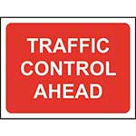 Picture of Traffic Control Ahead Roll-up Sign