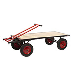 Turntable Truck, Robust Large Trolley For Moving Materials, 1000kg Capacity