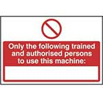 Picture of Unauthorised Persons Not To Use This Machine Sign