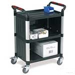 Picture of Utility Tray Trolleys with 3 Shelves with Enclosed Back and Sides