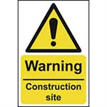 Picture of Warning Construction Site Sign